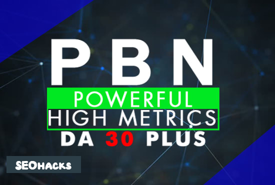 I will Provide you high DA 30 PBN links
