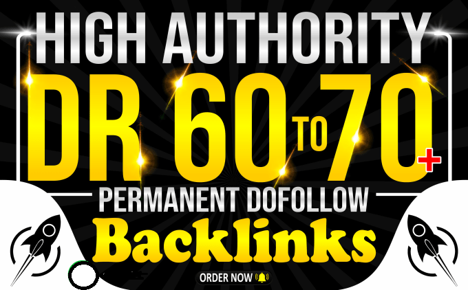 Provide you 10 Dofollow High DR 60 to 80 Backlinks for Good seo Results