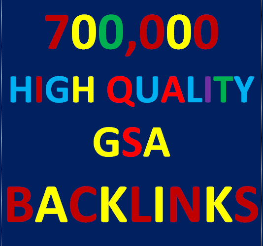700K GSA Backlinks for whitehat seo to rank your page, website, videos