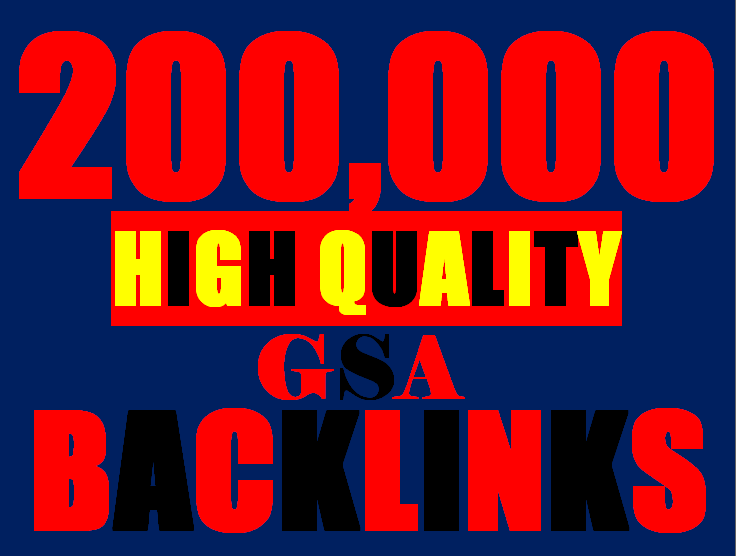 200K GSA Backlinks for whitehat seo to rank your page, website, videos