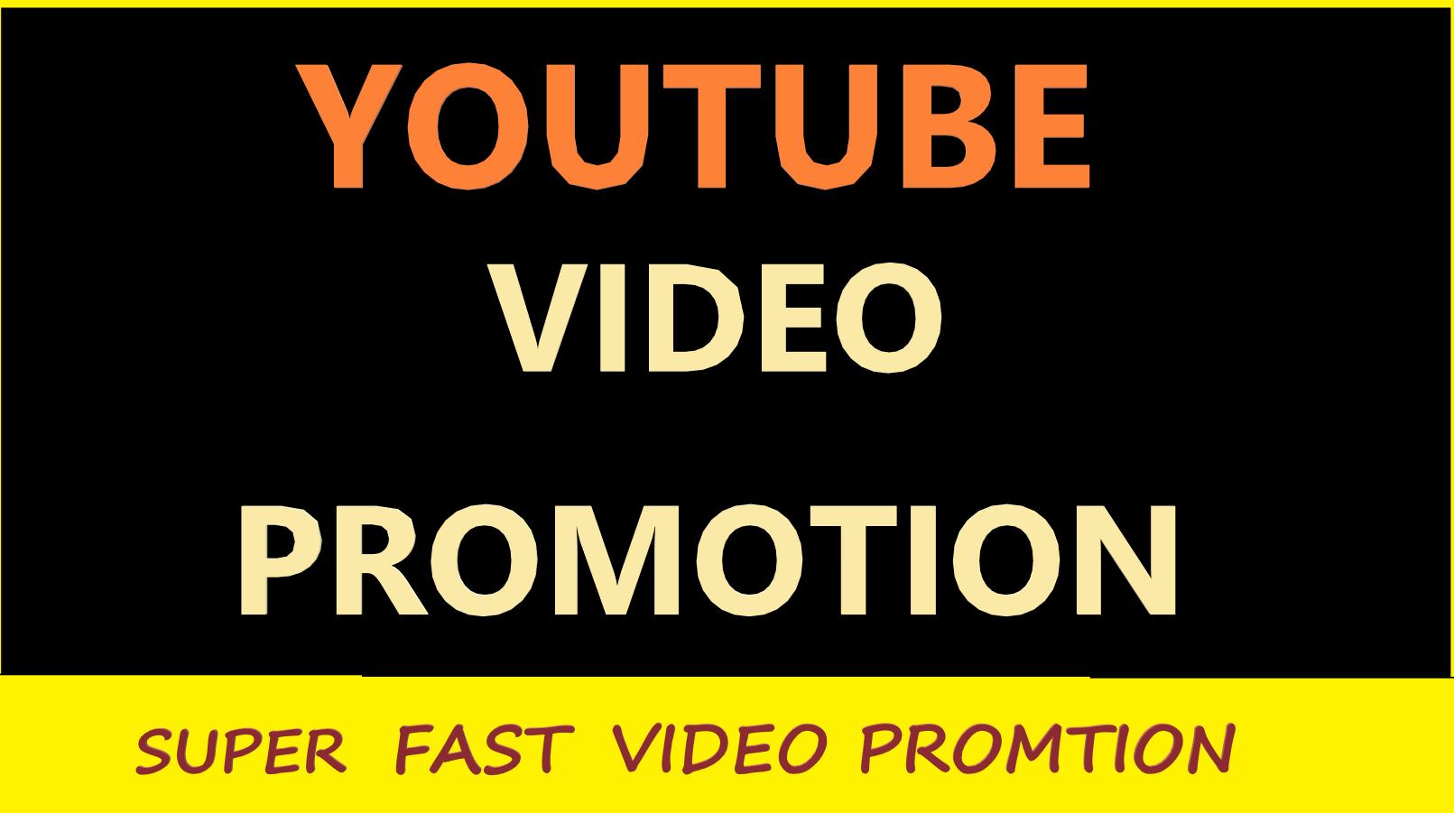 I will do massive YouTube video promotion Improve video ranking