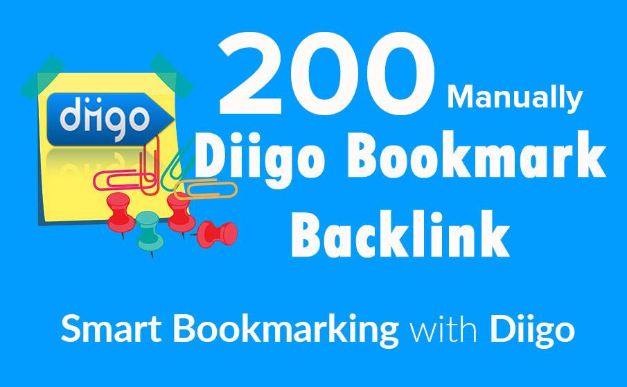 Manually 200 Diigo bookmark,  100 safe,  Boost traffic