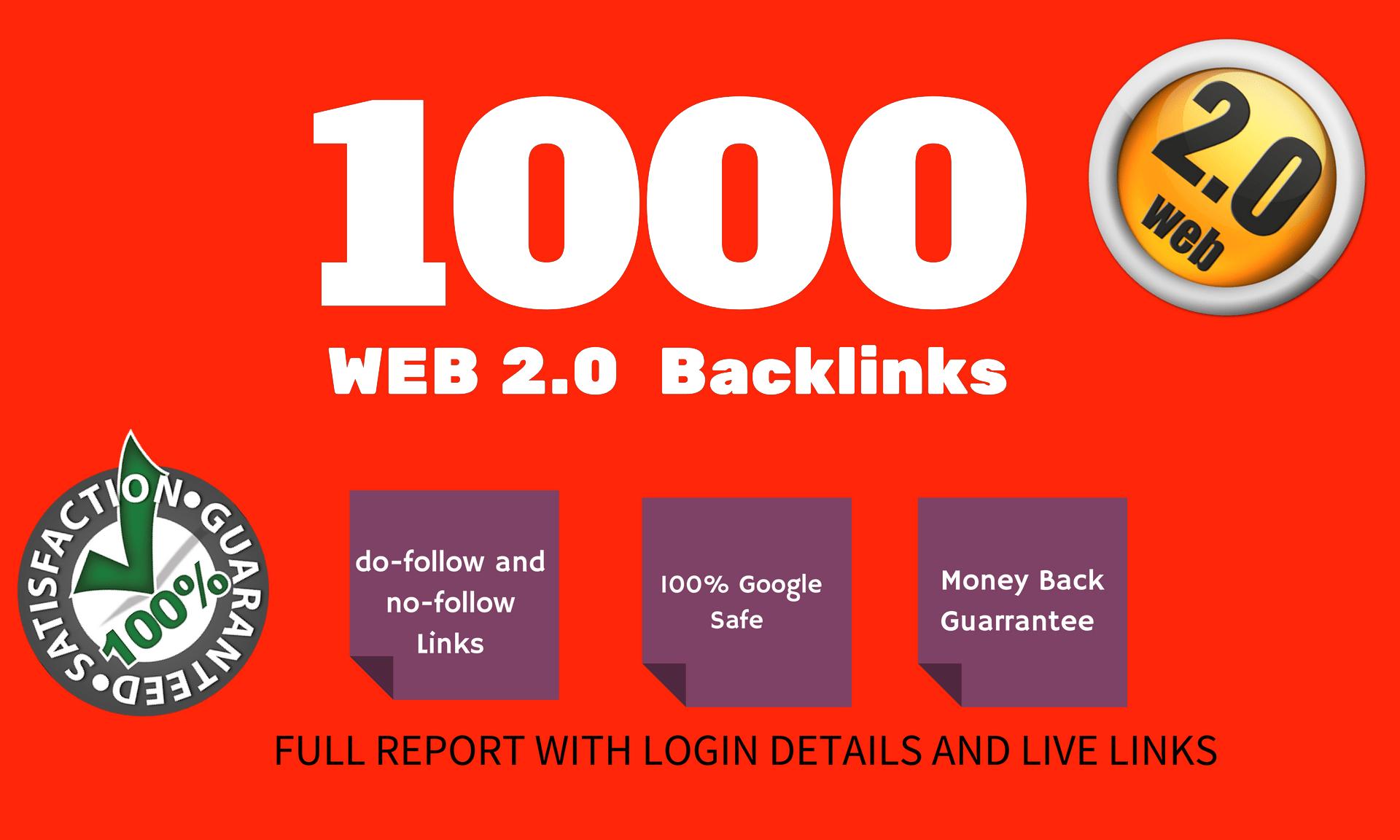get 1000 Web 2.0 SEO High DA PA Backlinks