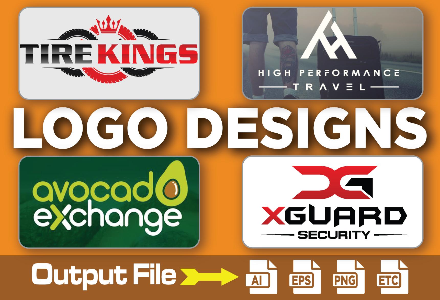 i will design flat,  minimalist,  coraporative logo design with copyright
