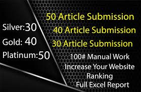 High Pr article submission sites