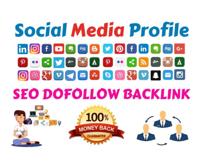 I will do 50 social media profile, profiles SEO backlinks