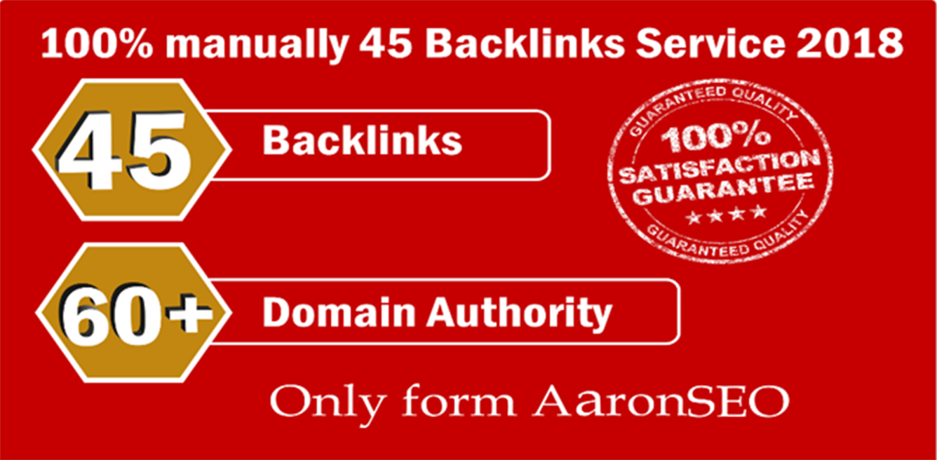 Limited Time Offer - Provide 45 Backlinks from High DA-60+ Domains-Skyrocket your Google Ranking Now