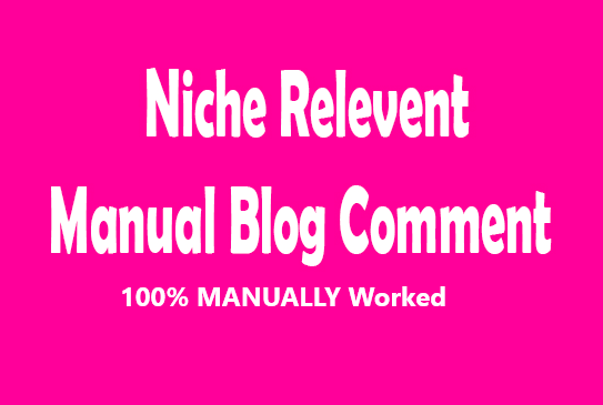 I will provide 100 niche relevanted blog comments