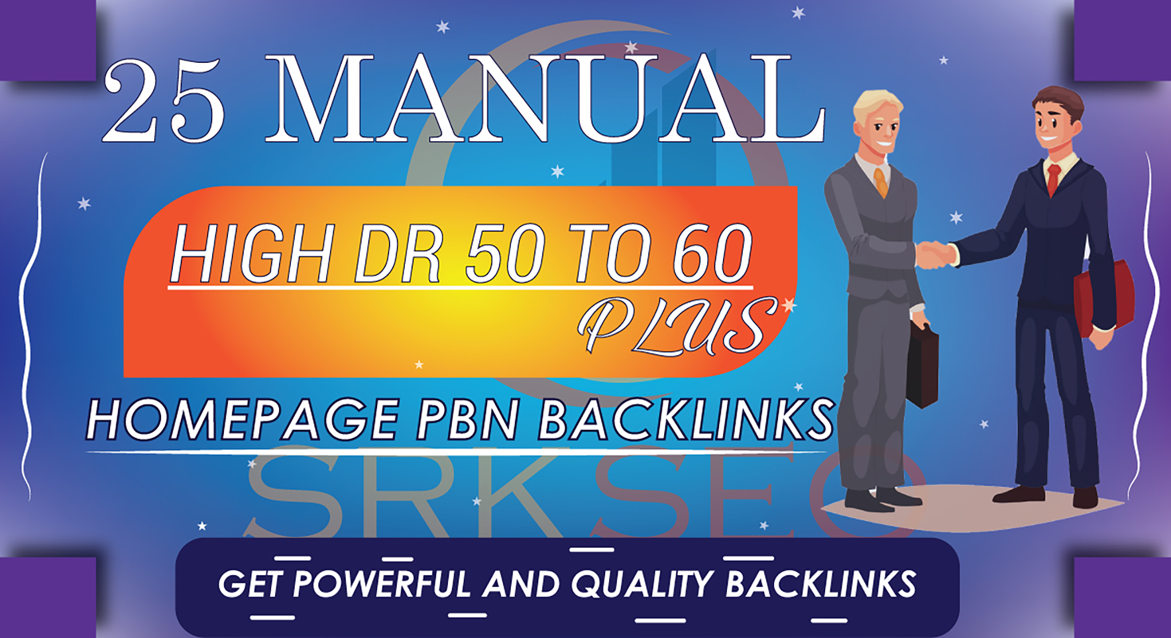 25 Manual High DR 50 to 60 Plus Homepage PBN Contextual Backlinks
