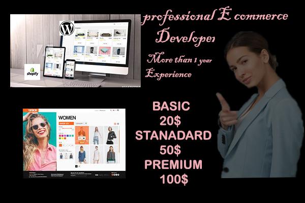 I will create e commerce wordpress site with woo commerce