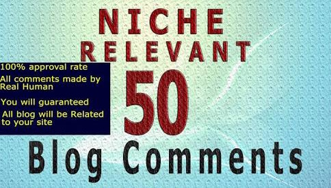 I will provide 50 Niche Relevant blog comments