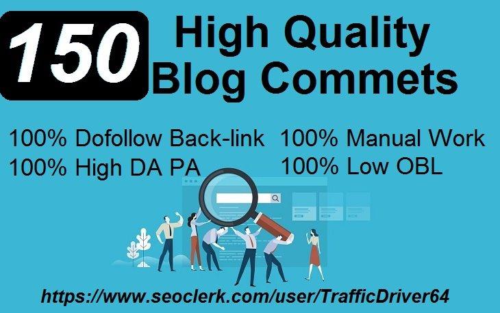 I Will Create 150 Unique Domain DO Follow Blog Comments