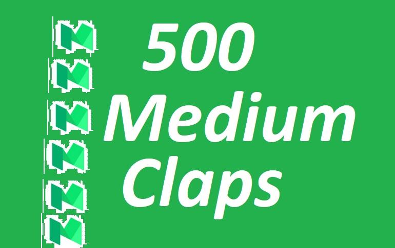 500+ Medium Claps on your Medium Article medium
