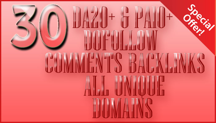 30 high da pa dofollow comment backlinks manually all unique domains