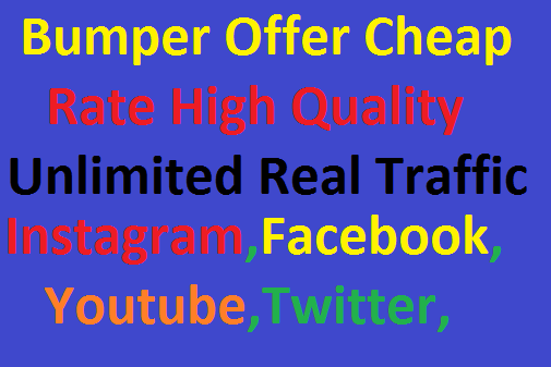 Real 200,000 Worldwide Website Real Unlimited Traffic Instagram,Facebook,YouTube,Twitter