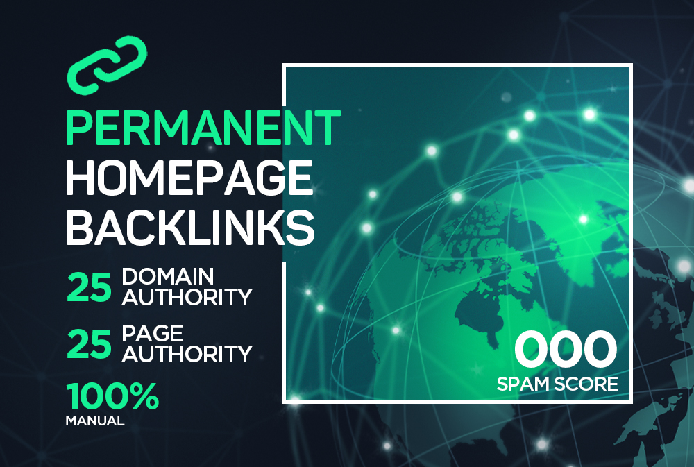 25+ Manual Permanent Backlinks to Google Page 1 ranking.