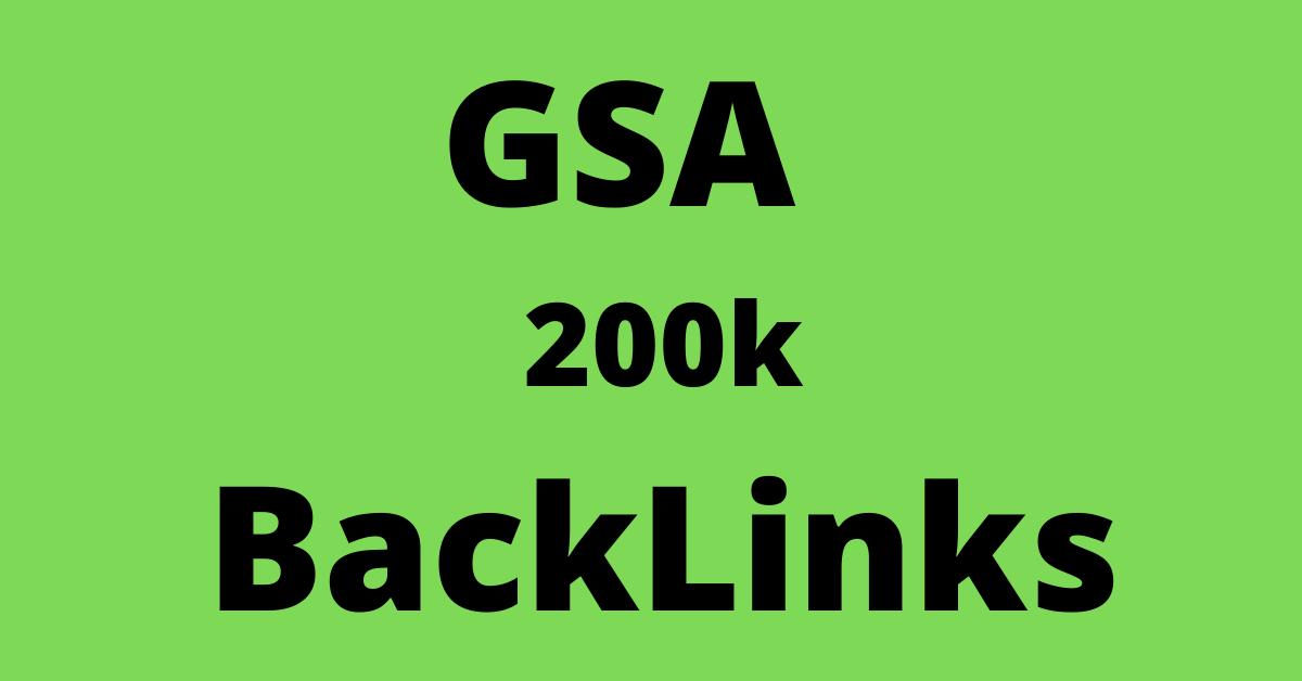 200k gsa ser baacklinks provide for ranking fast