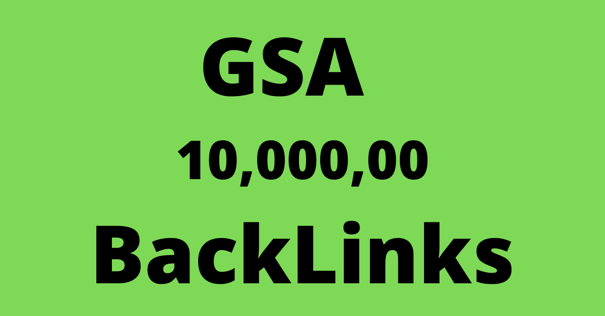 1 million gsa ser backlinks for seo ranking