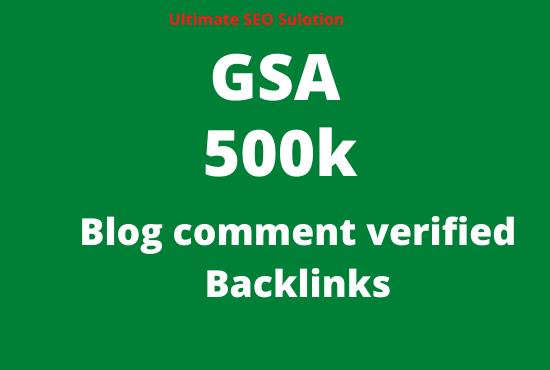 create 500k blog comment seo backlinks