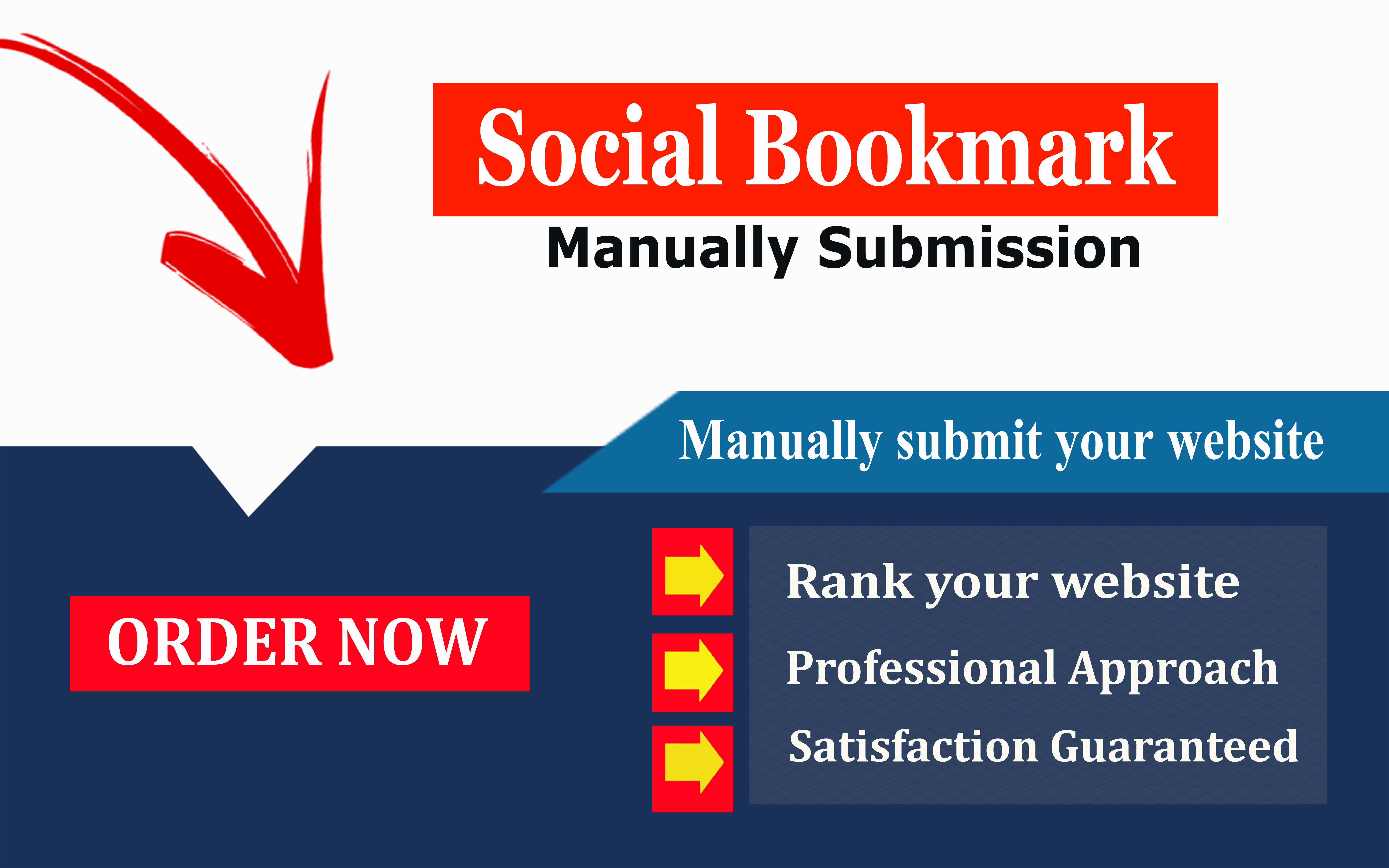 will do manually create 30 social bookmarking backlinks on high pa and PR sites