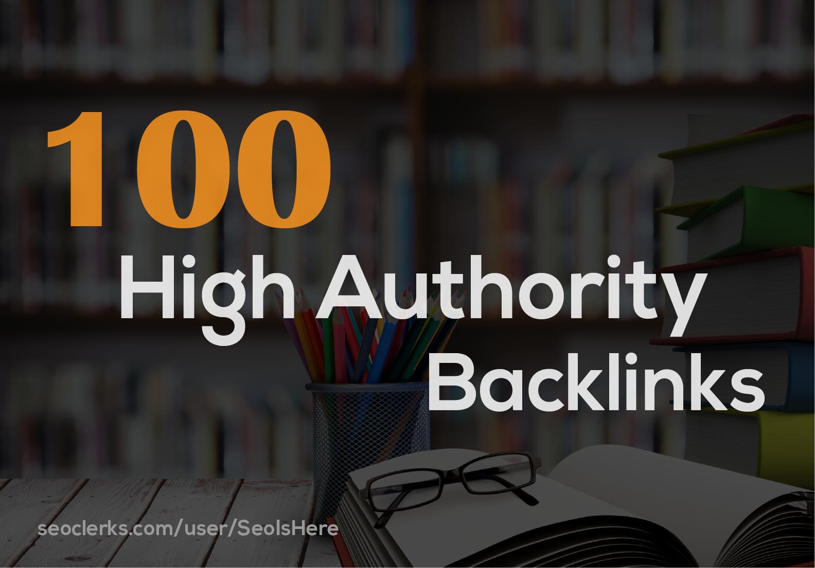 I will Build 100 High Authority White Hat Seo Backlinks Seo Link Buiilding