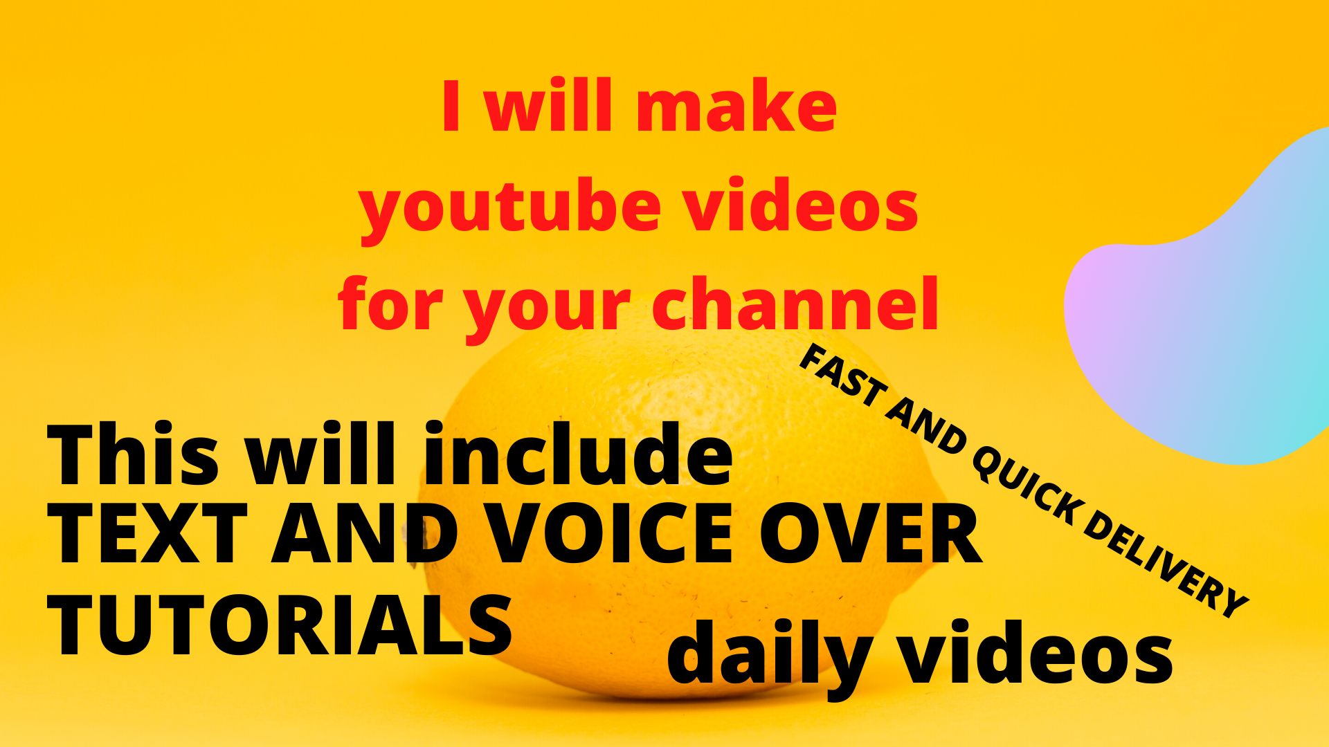 I will make videos for you with screen recording