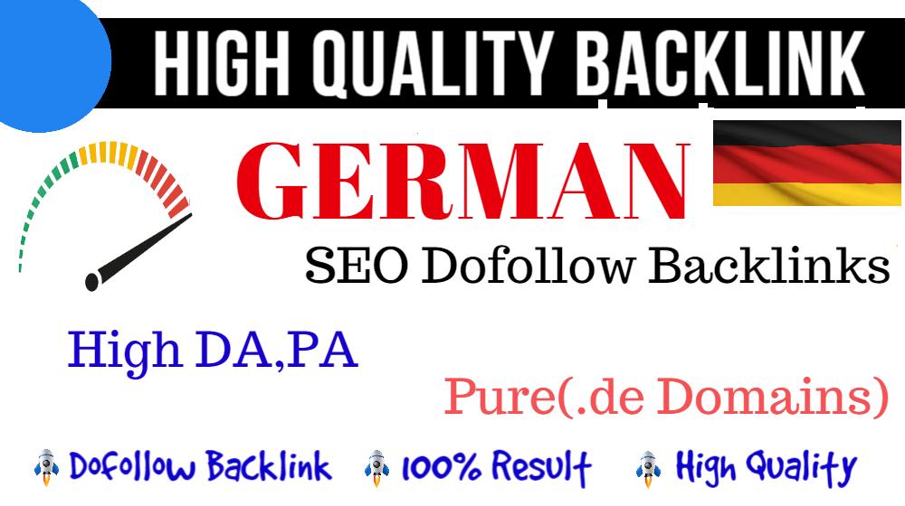 5 High Quality 25 Plus DA PA German Seo PBN Backlinks On Pure. de German Domains