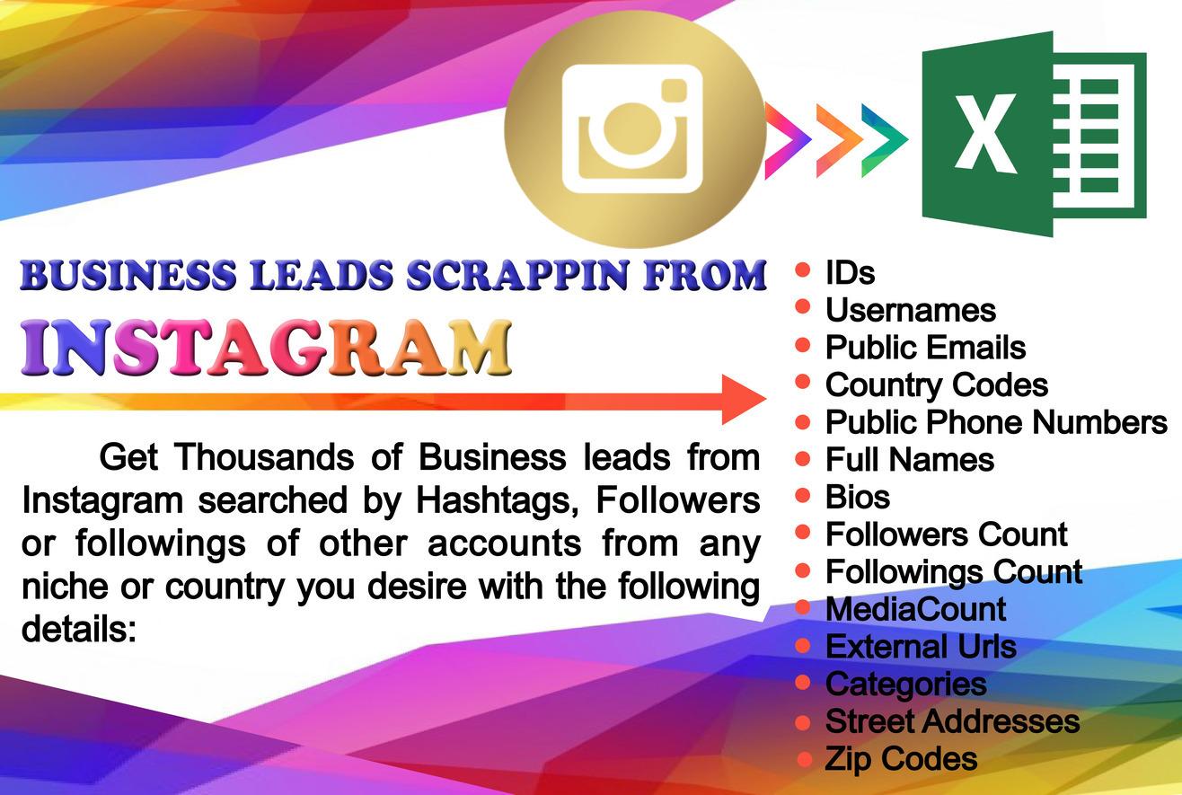 Scrape 1000 business leads from instagram