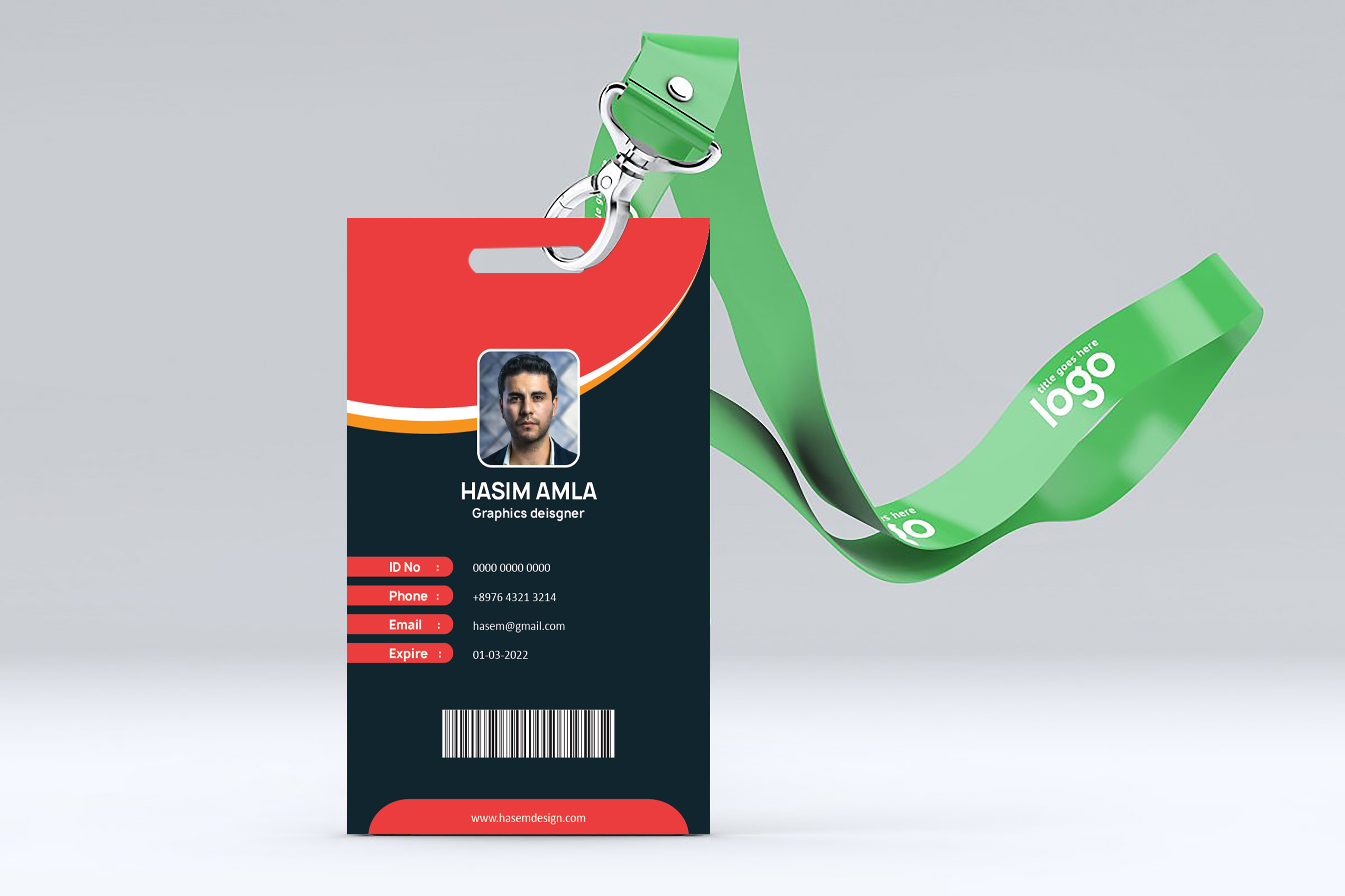 I will design printable id card within 48 hours