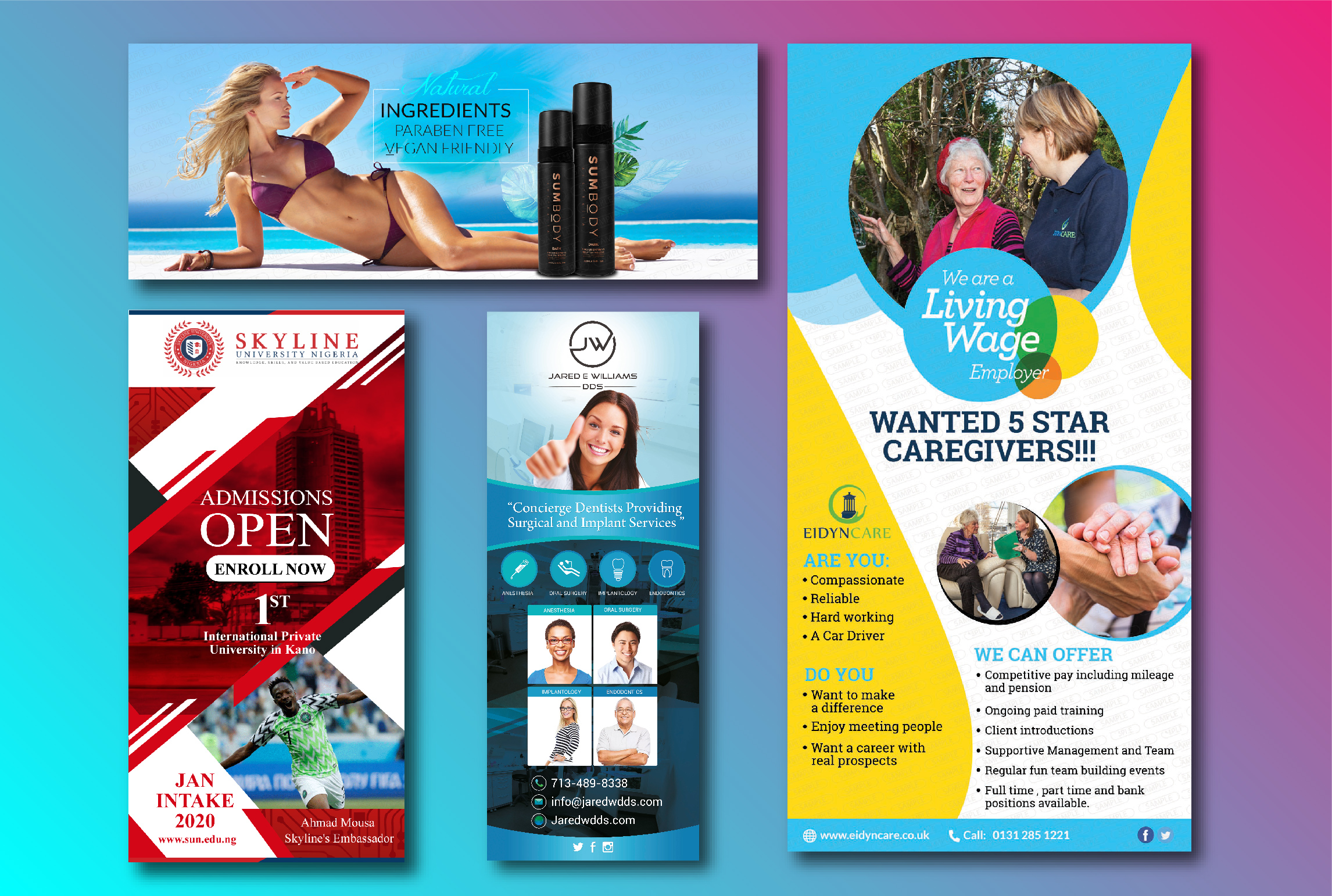 I will design Eye-Catching Roll Up Banner for your business