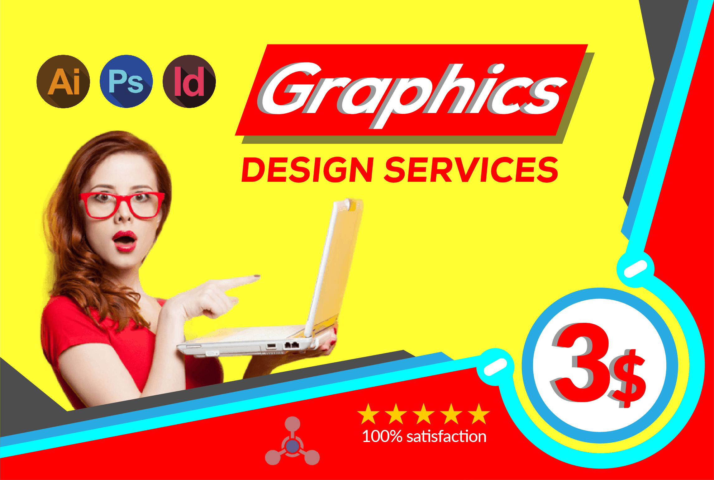 In 3 hours do any graphics design work