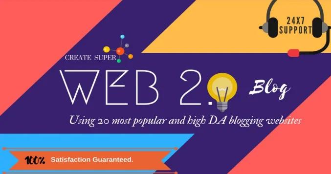 Create 10 Super Blog Web2.0 High Quality Backlinks