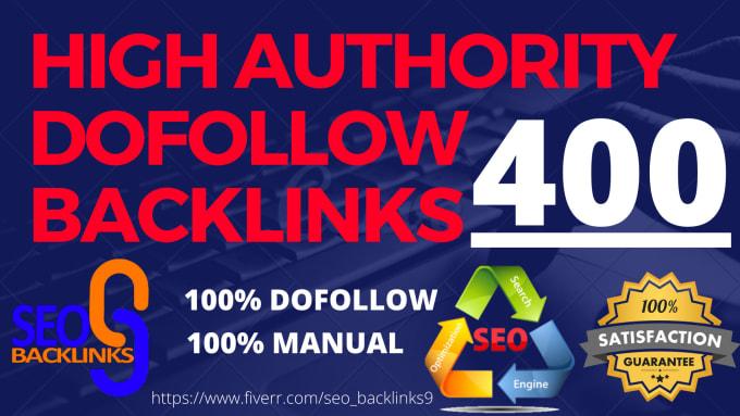 I will make 400 high quality dofollow SEO backlinks high da and pa