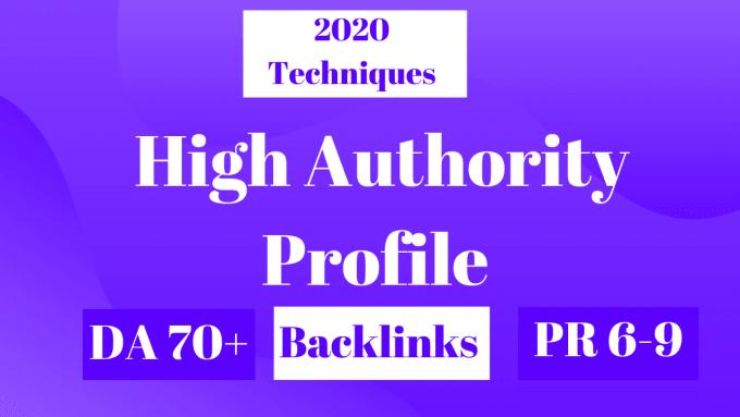 I will create 25 profile backlinks exclusive ranking da pa