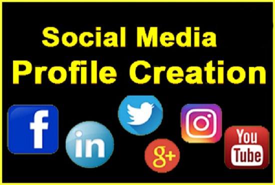 I will setup 60 social profiles or profile creations high DA, PA backlinks.