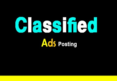 I will do 40 Top Classified ad posting on High DA Backlinks