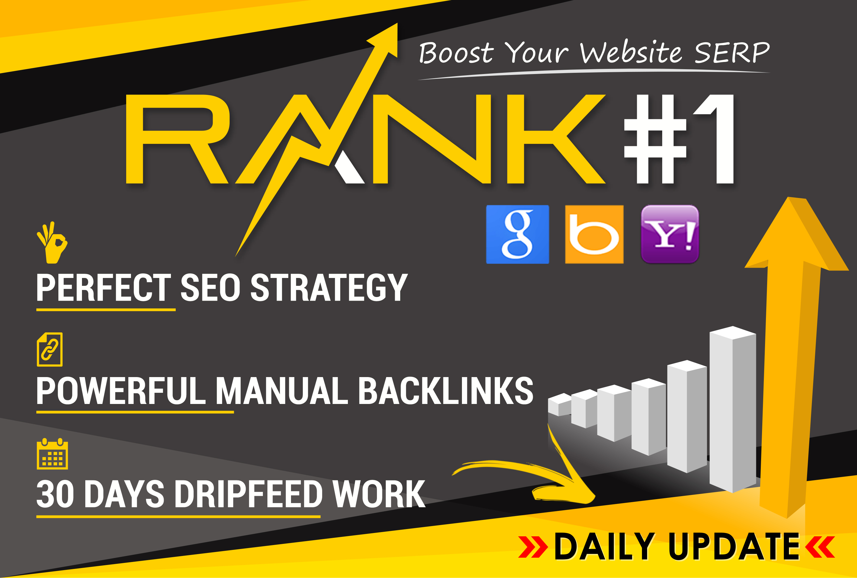 Ranking Your Website on Google First Page,  30 Days SEO Backlinks Manually