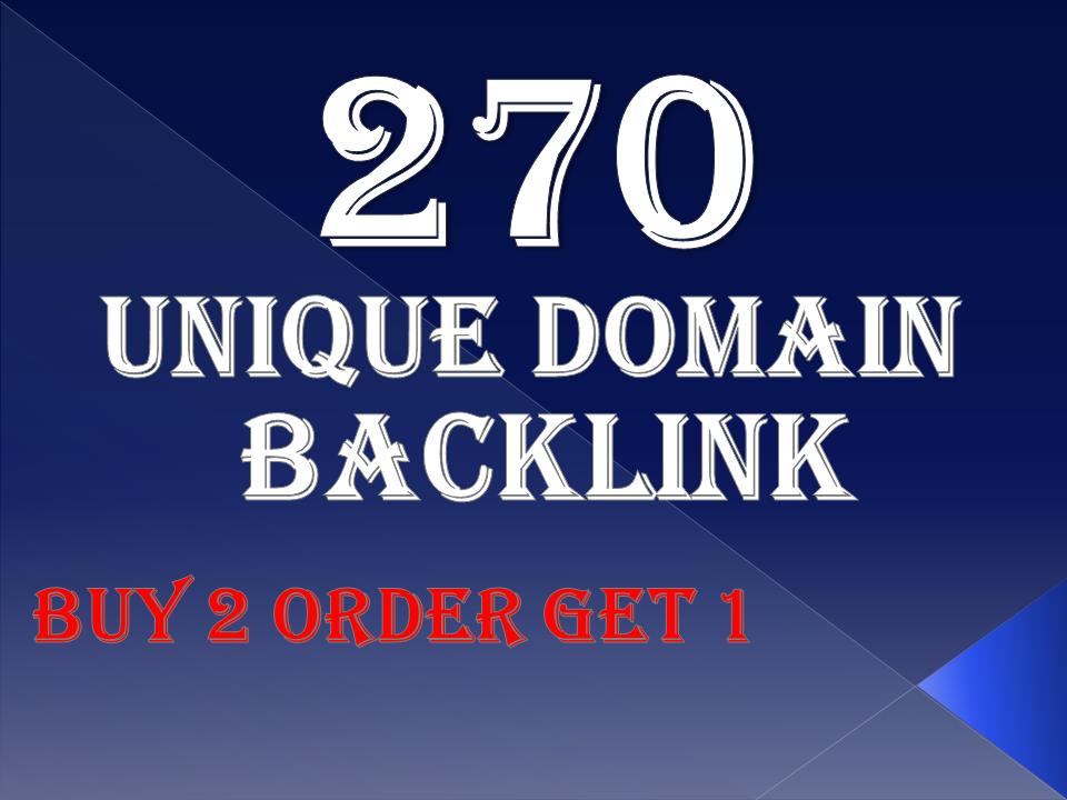 provide 270 Unique domain dofollow backlink and fast page google ranking