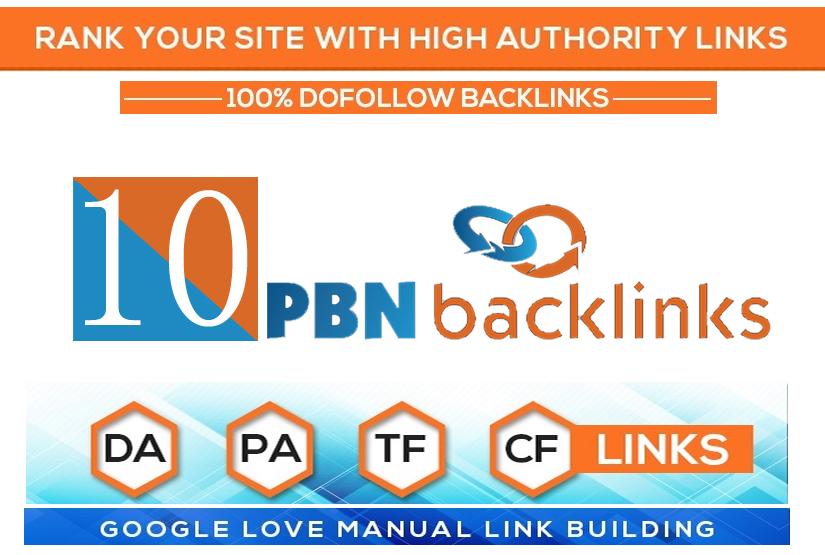 10 Permanent High DA PA TF CF DR PR Homepage Dofollow PBN Backlinks