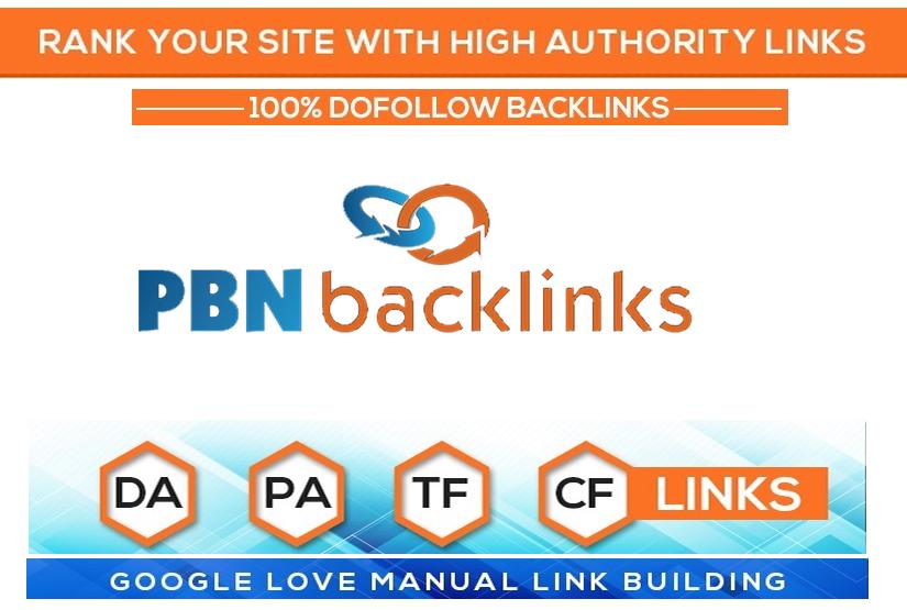 Permanent 3 High DA PA TF CF DR PR Homepage Dofollow PBN Backlinks