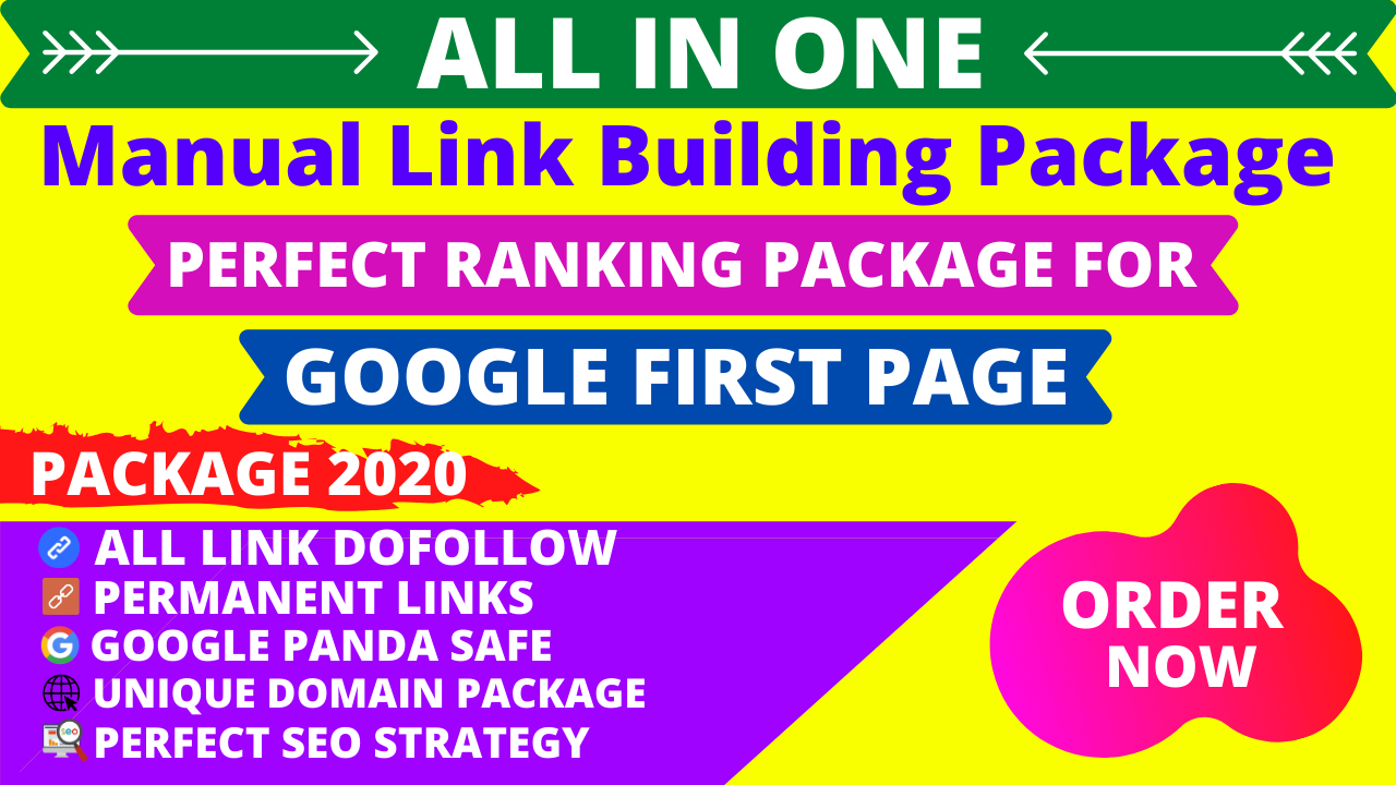 All In One Dofollow Manual SEO Link Building Service