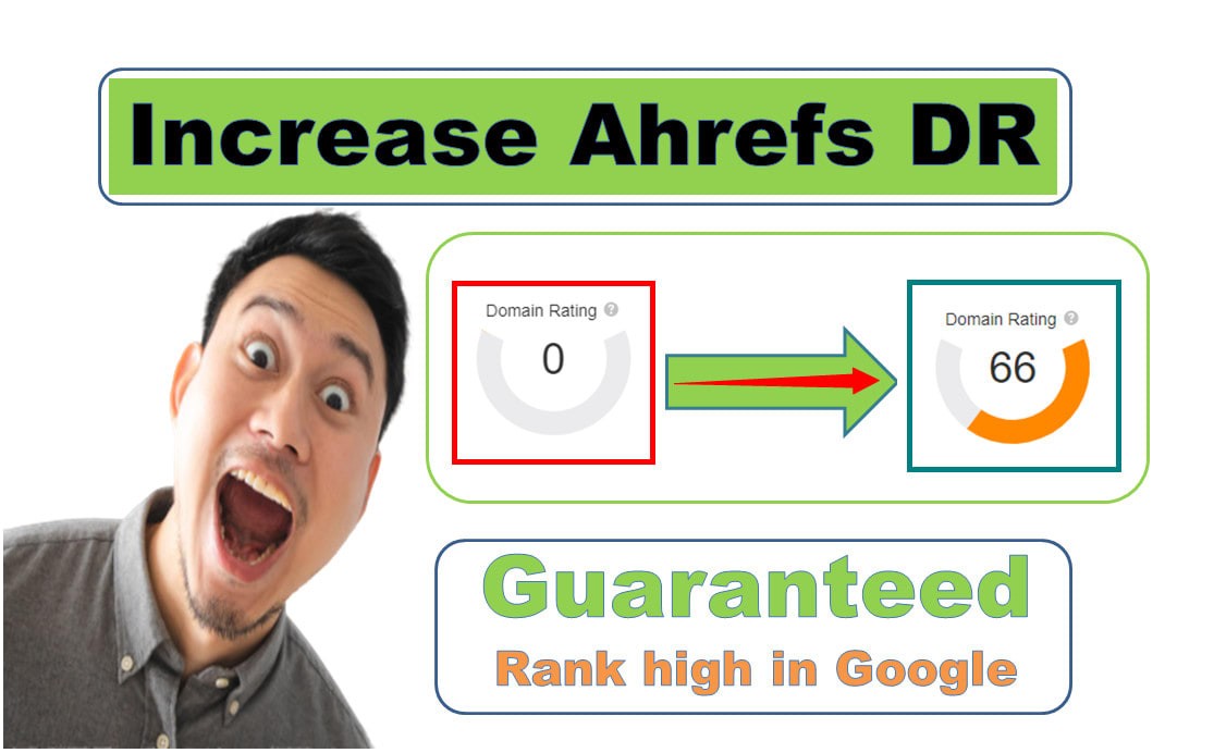 I will increase your website domain rating ahrefs DR 0 to 50+