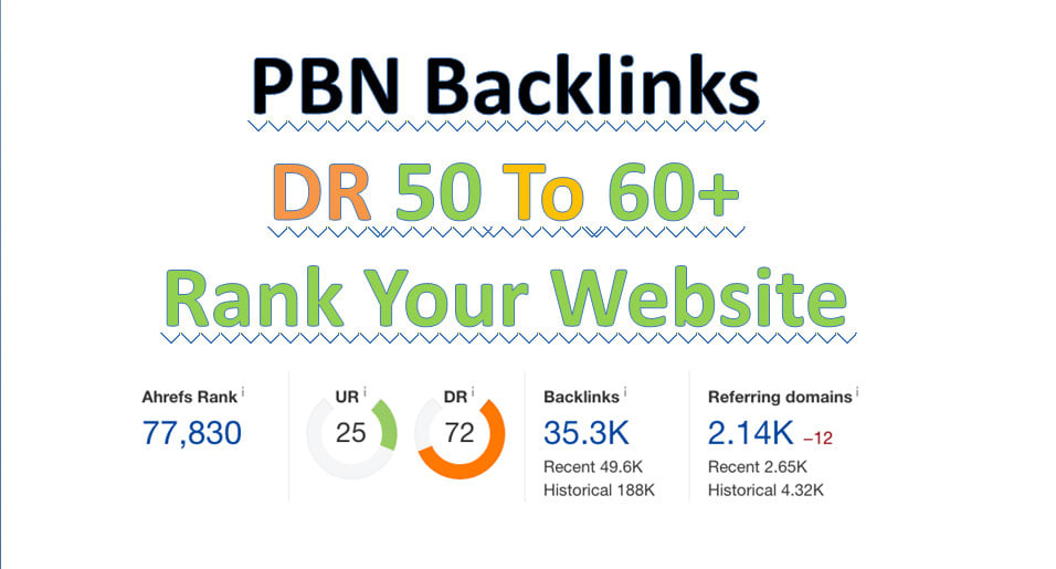 I will create 10 dofollow pbn backlinks with DR 50+ for your website Ranking