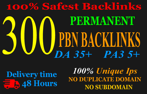 Build premium 300+ PBN Backlink homepage web 2.0 with permanent dofollow Trustfollow for 25