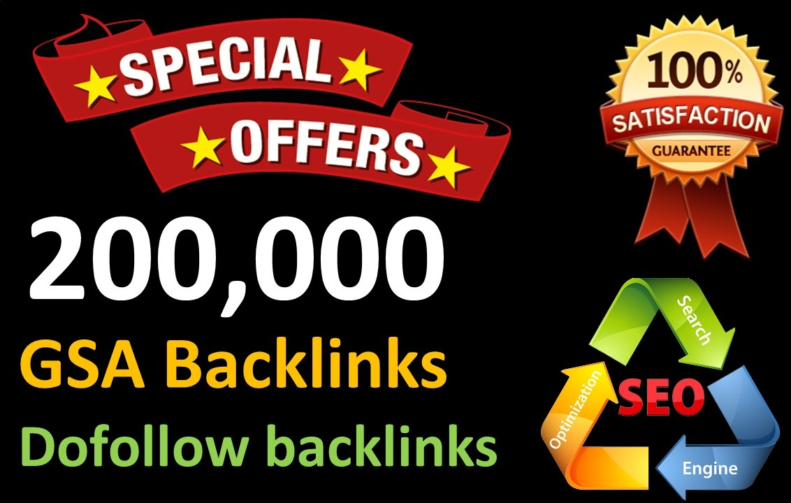 200,000 GSA Dofollow Links for Boosting Ranking in Google SERP