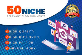 I will create 50 niche blog comments backlinks