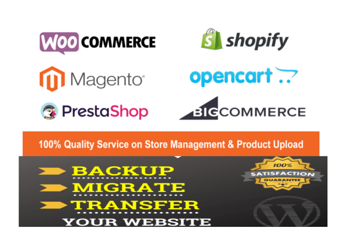 I will migrate products of all stores like wordpress, wix, magento