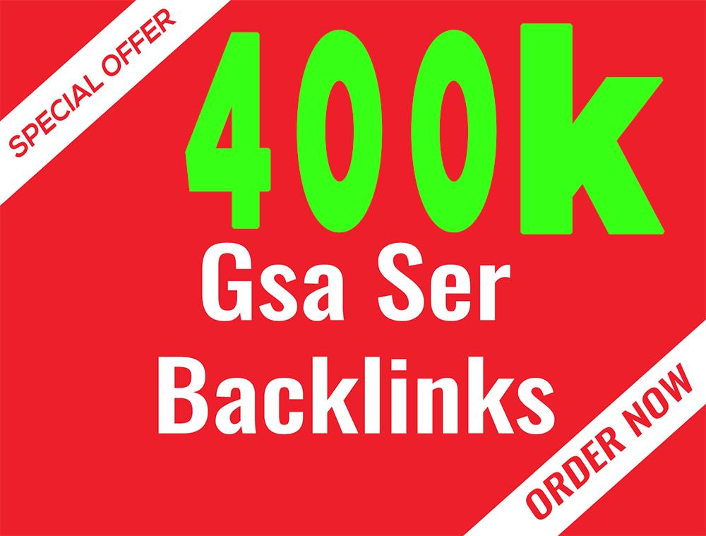 400k GSA SER Verified BACKLINKS