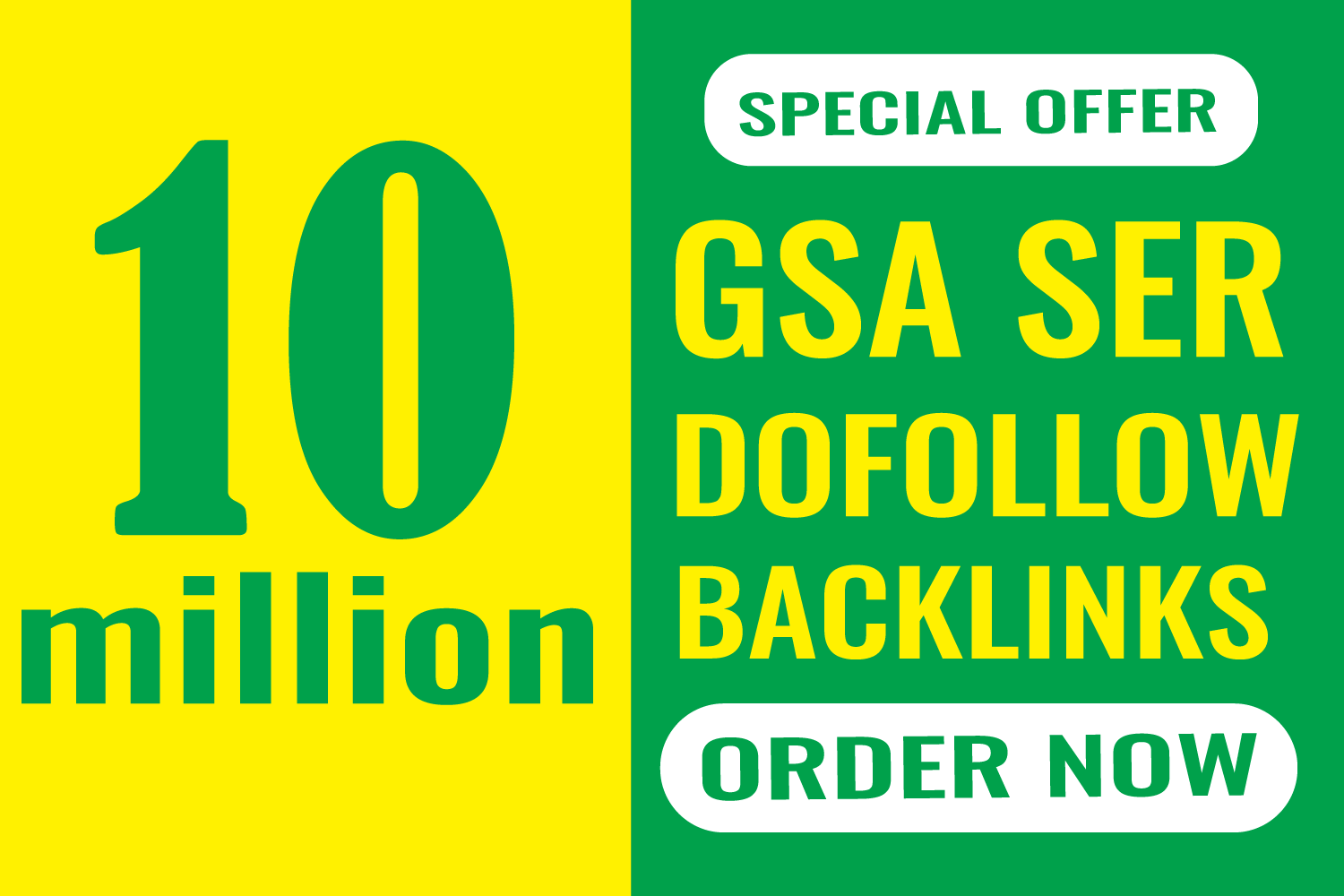 High Authority 100,000,000 GSA SER Backlink and Faster index on google Ranking