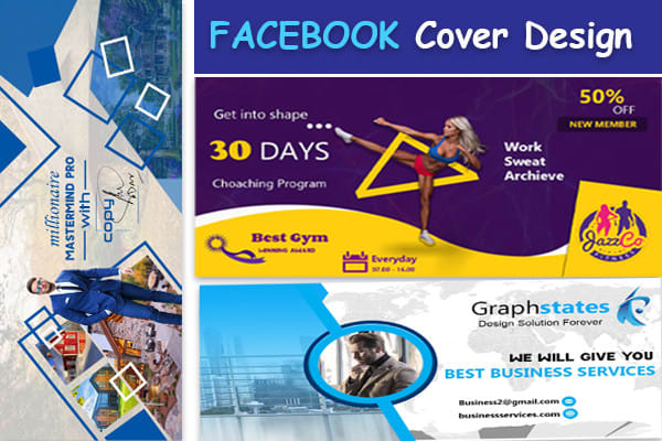 I will design 2 eye catching,  attractive and professional facebook cover